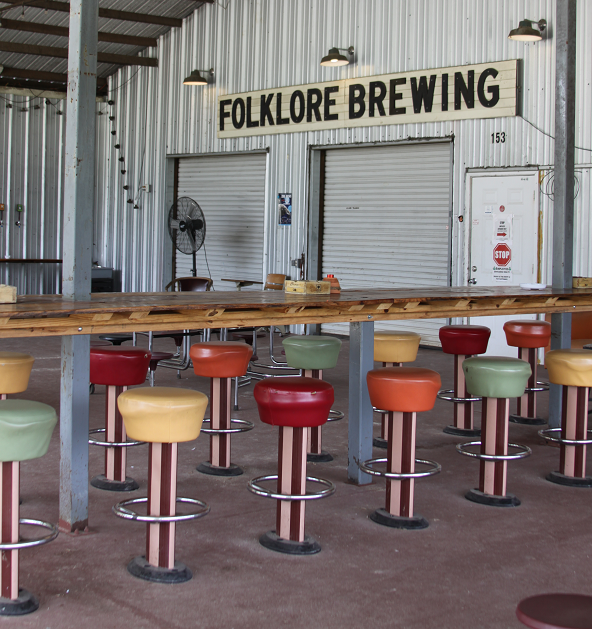 The patio at Folklore Brewing & Meadery