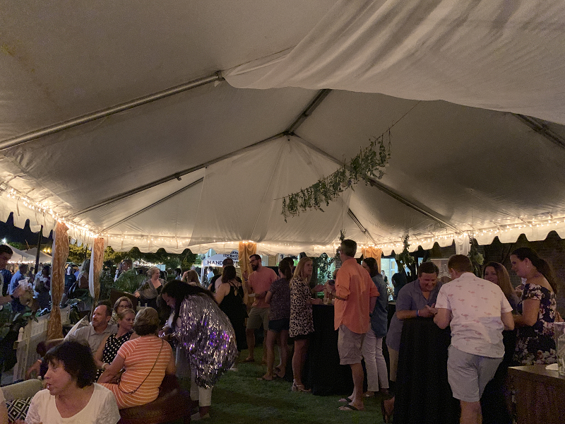 Inside the VIP Oasis Tent at YPA 2019