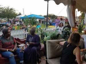 View from inside the Oasis Tent at YPA 2018