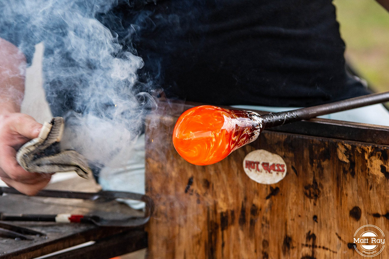 Glass blowing demonstration by Hot Glass Academy