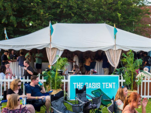 View of the Oasis Tent from YPA 2018
