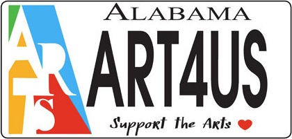 arts license tag logo