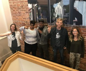 ArtBox 2020 mentors from left to right: Jennifer Sheffield, Amelia Ferrell, Orran Scruggs, Brandon Rice, and Sarah Painter.