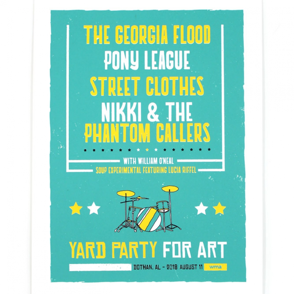 Yard Party for Art 2018 Limited Edition Poster